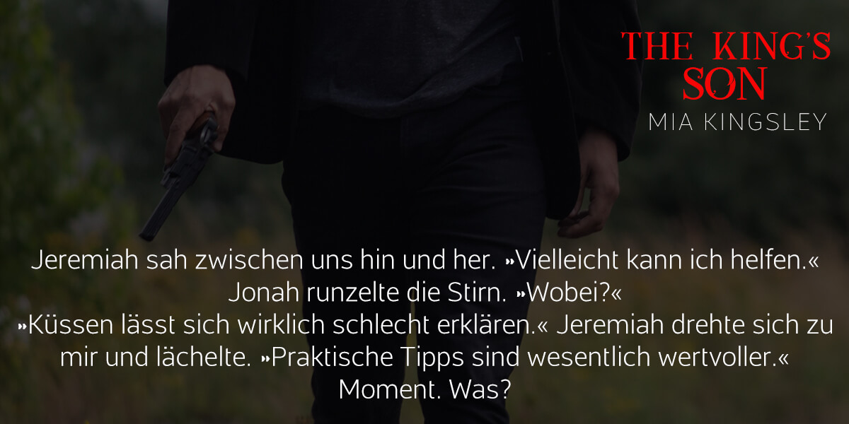 Teaser zum Liebesroman The King's Son.