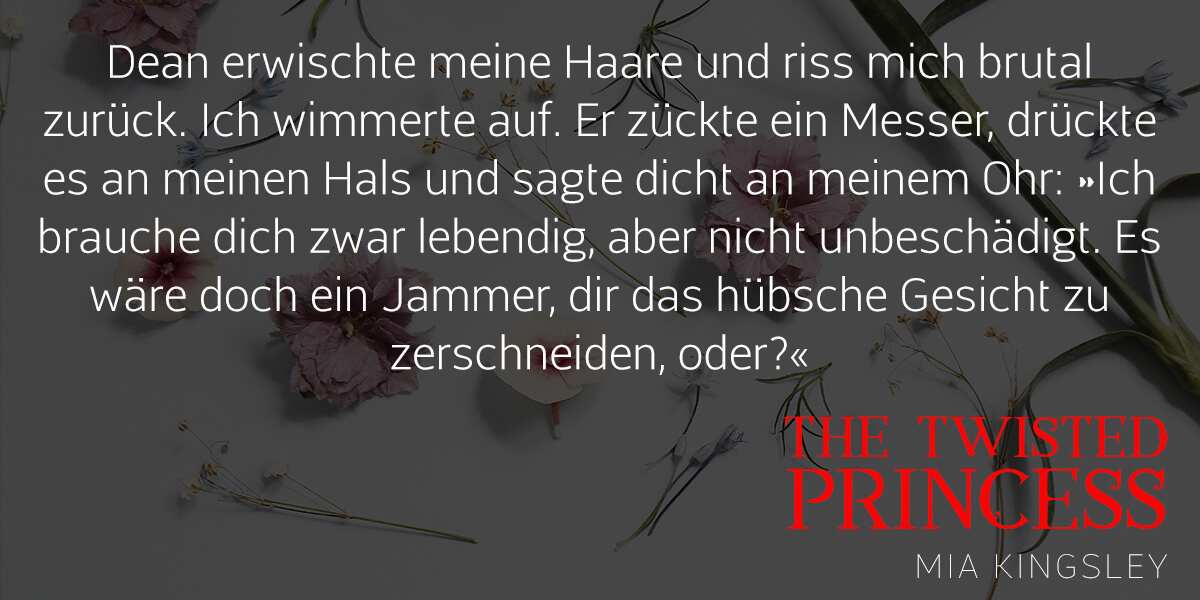 Teaser zum Liebesroman The Twisted Princess.