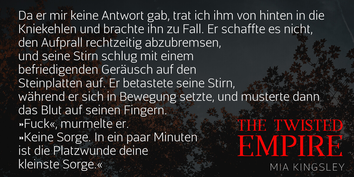 Teaser zur Bad-Boy-Romance The Twisted Empire.